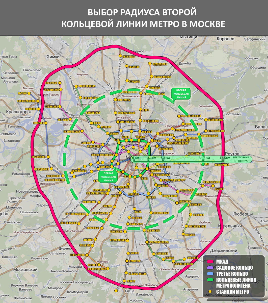 Схема метро новая кольцо